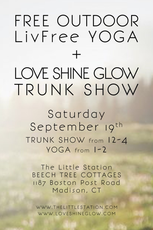 YOGA AND TRUNK SHOW